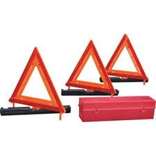 Meets FMVSS  Reflective 3Pc Triangle Roadside  Highway Emergency Safety Kit