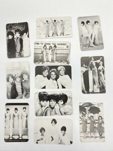Lot of 11 Vintage 1986 Motown Record Corp Diana Ross and The Supremes Cards