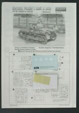 Tristar 1/35 Scale German Panzer I Ausf. A PE Parts & Decals from Kit No. 35008