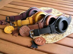 WW1 TRENCH WRIST STRAP for MILITARY POCKET WATCH VINTAGE LEATHER BAND CASE 48-54