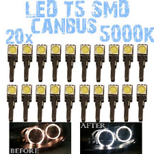 N° 20 LED T5 5000K CANBUS SMD 5050 Faróis Angel Eyes DEPO FK 12v VW Polo 6N 1D2