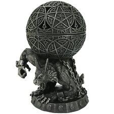 Atlas Wolfman Incense Burner Faux Stone Polyresin Statue Werewolf Lobo Wolf