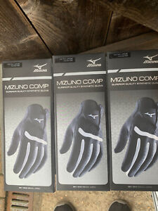 3 x Mizuno All Weather Golf Gloves Mens R/Hand For Left Hand Golfer New Large