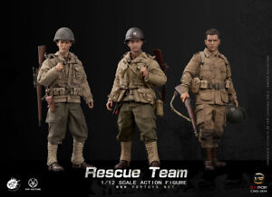 POPTOYS 1/12 Scale WWII US Rescue Squad Captain Shooter & Soldier 3 Pack CMS004