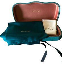 Gucci Hard Shell Velvet Sunglasses or Eyeglasses Case Medium New