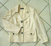GERRY WEBER  Jacke   Blazer  Gr. DE 40  beige  Wolle & Seide  Business  NEU