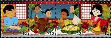 Christmas strip of 4 mnh stamps 2018 Philippines Maligayang Pasko