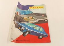 catalogue Dinky Toys France 1971