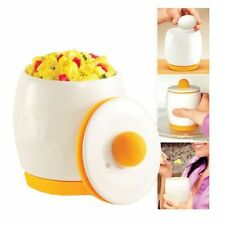 EGG COOKER Ceramic Microwave Poacher Fan tastic for Fast Healthy & Fluffy Eggs