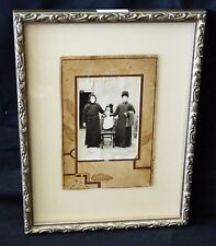 """1900 Chinese Framed B&W Photo """"Family in Winter Clothing"""" by unmarked (Mil)"""