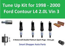 Air Oil Fuel Filter PCV Spark Plugs Tune Up for 1998 1999 2000 Ford Contour Vin3