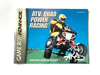 ATV Quad Power Racing - Authentic - Nintendo Game Boy Advance - GBA Manual Only!