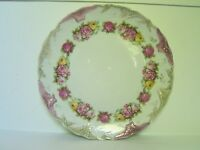 Antique Pink Yellow Rose Porcelain Charger Plate LARGE