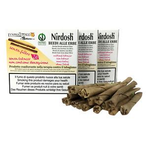 Nirdosh 3 Pacchetti di sigarette alle erbe senza filtro - Per Smettere di Fumare