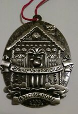 Disney Vacation Club DVC 2012 Pewter Christmas Ornament Members Only Silver Home