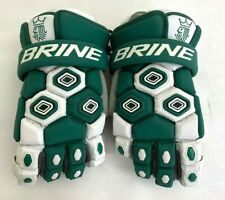 "New Brine Triumph Green / White Adults 13"" Lacrosse Gloves"