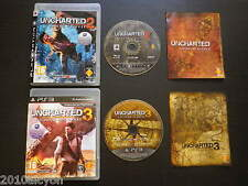 LOT 2 JEUX PS3 : UNCHARTED 2 Among Thieves + UNCHARTED 3 L'illusion de Drake
