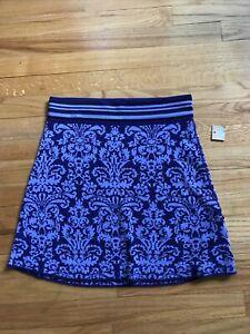TITLE NINE Womens Purple /blue Breeze Athletic Knit  Skirt Size S A3