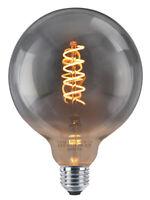 Retro Vintage SMOKED GREY LED GLOBE 4W Spiral Filament G125 Light Bulb E27
