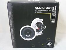 """Pair MA Audio MAT-660 6.5"""" 2-Way In-Ceiling/Wall Speakers 360W"""
