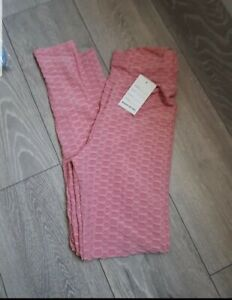 Pink Ruched Bum Leggings Size S/M 8/12