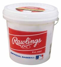 Bucket of 24 Baseballs Rawlings Official League Recreational Team Practice New