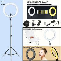 """Zomei 18"""" LED Ring Light Video Light 58W 5500k For Live broadcasting Photography"""