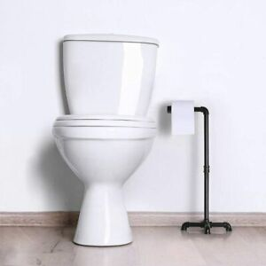 Industrial Freestanding Toilet Paper Dispenser Bathroom Organizer Roll Holder