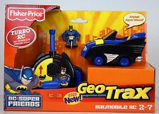 FISHER PRICE GEOTRAX BATMAN BATMOBILE DC GEO TRACKS REMOTE CONTROL TRAIN TOY