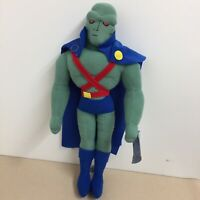 "Rare Martian Manhunter Justice League Toy Works 12"" Stuffed Plush Doll AR24"