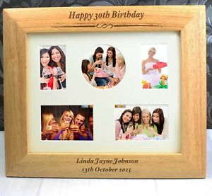 Personalised Wooden Photo Frame Multi Aperture or 10 x 8 Birthday, Baby Gift