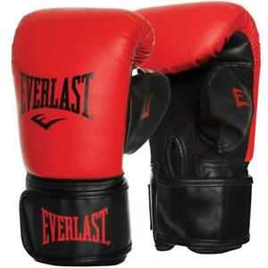 Everlast Tempo Bag & Mit Boxing Glove -Large/XLarge Red