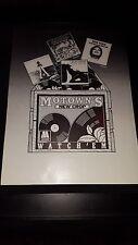 Commodores, Jermaine Jackson, Leon Ware Rare Motown Promo Poster Ad Framed!