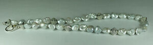 """Authentic Lagos Sterling Silver 18K Gold Caviar Baroque Pearl Necklace 16"""""""