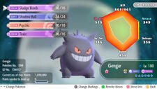 Pokemon Let's Go Shiny Gengar Max 6IV / AV [Fast Delivery] Original Owner