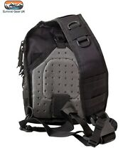 Black Mini Molle Tactical Recon 10 Litre Shoulder / Day Bag Back Pack