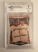 1960 Topps Willie Mays/Bill Rigney #7 Beckett Graded 7