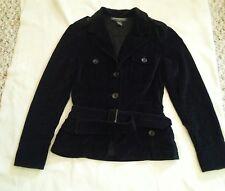 Banana Republic  Blazer Jacket Black Cotton Size XS Belted Button Women's