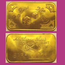 RENO NEV.  -   Mother Lode Mint  1 oz  Bronze Bar #00506, #00517 or #00518