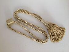 Window Curtain Tie Back Tiebacks Rope Pale Gold w/Tassel One