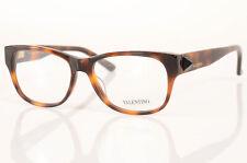 Valentino V2678 brown havana rockstud rectangle frame optic eyeglasses NEW $240