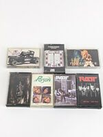 Lot Of 7 Classic Rock Cassette Tapes Aerosmith Foreigner Poison Ratt