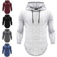 Men Slim Athletic Gym Muscle Hoodies Tee T-shirt Tops Hooded Long Sleeve Blouse