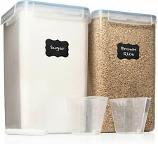 Extra Large 6.5L x 2 Food Storage Airtight Containers - Airtight Pantry $39.99