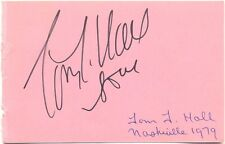 Tom T. Hall + Steve Wariner signed autograph album page 1979 US country singers