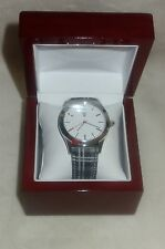 Timepieces by Randy Jackson STAINLESS STEEL Leather Swiss Movement Watch NEW