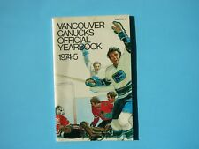 1974/75 VANCOUVER CANUCKS NHL HOCKEY MEDIA GUIDE YEARBOOK SHARP!! 74/75