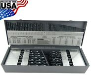 "Cle Line 115pc Jobber Drill Bit Set Number Letter 1/16"" - 1/2"" Black Oxide USA"