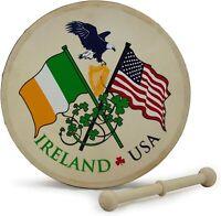 "Waltons 8"" Irish Ireland/USA Souvenir Bodhran"