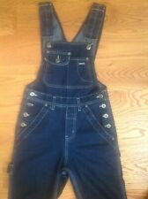 Vtg SILVER JEANS Women's JUNIORS Sz 1 Cropped OVERALLS 100% Cotton DENIM Canada